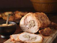 Schweinerollbraten mit Apfel-Pilz-Fllung Rezept