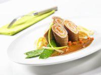 Schweinerouladen mit sahnigem Kohlrabi und Spätzle Rezept