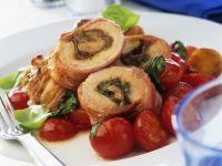 Schweineschnitzel mit Spinatfüllung Rezept