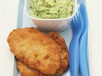 Schweineschnitzel und Kartoffelpüree mit Brokkoli Rezept