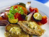 Schweineschnitzelchen mit Gemüse Rezept