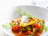 Seelachs mit Dinkel-Tomatensauce Rezept