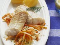 Seelachs mit Juliennegemüse und Kartoffeln Rezept