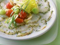 Seeteufel-Carpaccio mit Salat Rezept