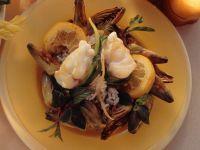 Seeteufelsteaks auf Artischockenreis Rezept