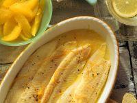 Seezunge in Orangensauce Rezept