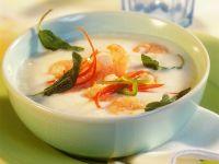 Selleriecremesuppe mit Garnelen Rezept
