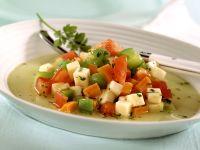 Sellerieeintopf mit Paprika und Tomaten Rezept