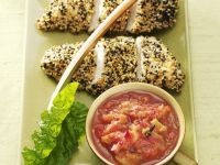Sesam-Hähnchen mit fruchtigem Chutney Rezept