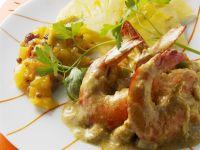 Shrimps-Ananas-Curry Rezept
