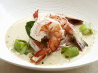 Shrimps-Curry mit Porree Rezept