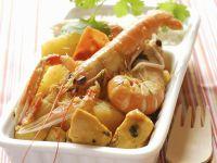 Shrimps-Hühnchen-Curry mit Ananas Rezept