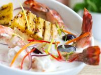 Shrimps mit Ananas in Kokossauce Rezept