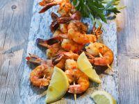 Shrimps-Spieße vom Grill Rezept
