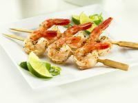 Shrimpsspieße mit Limette Rezept