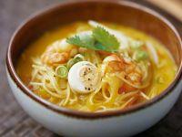 Shrimpssuppe mit Nudeln aus Singapur Rezept