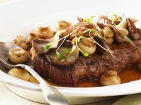 Sirloin Steak auf Jäger-Art Rezept