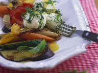Sommergemüse mit Käsenocken und Honigvinaigrette Rezept