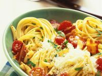 Spagehtti mit Tomaten Rezept