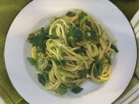 Spaghetti in Avocadosoße mit Limette und Koriander Rezept