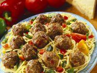 Spaghetti mit Fleischbällchen Rezept