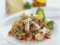 Spaghetti mit Gemüsesauce