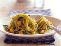 Spaghetti mit Pesto und Prinzessbohnen Rezept