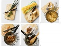 Spaghetti mit Specksauce Rezept