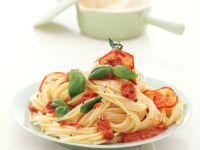 Spaghettini mit Pesto rosso Rezept