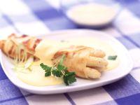 Spargel-Crêpes mit Sauce Hollandaise Rezept