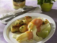Spargel-Lachs-Röllchen Rezept
