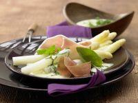 Spargel mit leichter Parmesan-Basilikum-Hollandaise Rezept