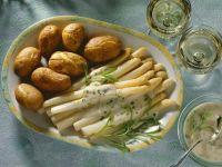 Spargel mit Buttersauce und Kartoffeln Rezept