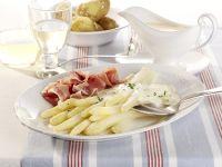 Spargel mit Sauce Hollandaise und Katenschinken Rezept