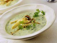 Spargel-Petersilien-Suppe mit gebratenem Spargel Rezept