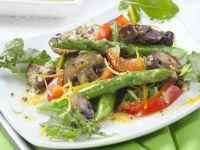 Spargel-Pilz-Salat mit Senf-Orangen-Vinaigrette Rezept