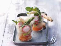 Spargelsalat in kleinen Gläschen Rezept