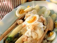 Spargelsalat mit Krabben Rezept