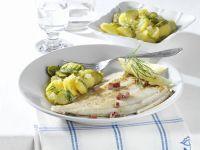 Speckscholle mit Kartoffelsalat Rezept