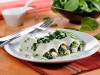 Spinat-Cannelloni mit Käsesauce Rezept