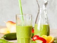 Spinat-Gurken-Drink mit Birne Rezept