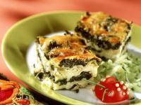 Spinat-Lasagne mit lustigem Käfer