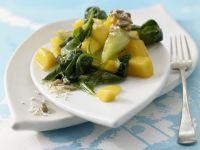 Spinat-Mango-Gemüse Rezept