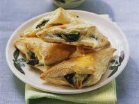 Spinat-Mozzarella-Taschen