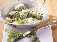 Spinatnockerl mit Knoblauch-Kerbel-Butter Rezept