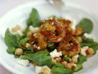 Spinatsalat mit Garnelen Rezept