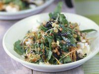 Spinatsalat mit Linsen und Schafskäse Rezept