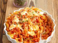 Spirelli-Gratin mit Tomate und Mozzarella Rezept