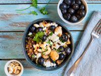 Hähnchen-Bowl mit reis-fit Feelgood Kichererbsen mit Quinoa & Gemüse