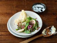 Stampfkartoffeln mit Bohnen und Rüben Rezept